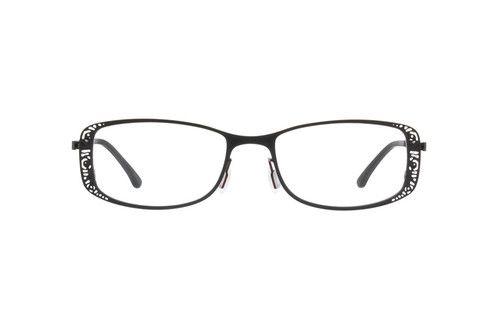 Order online, women red full rim stainless steel rectangle eyeglass ...