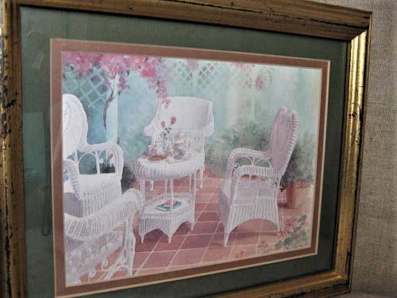 Gloria Eriksen Framed Print Vintage Framed Garden Patio