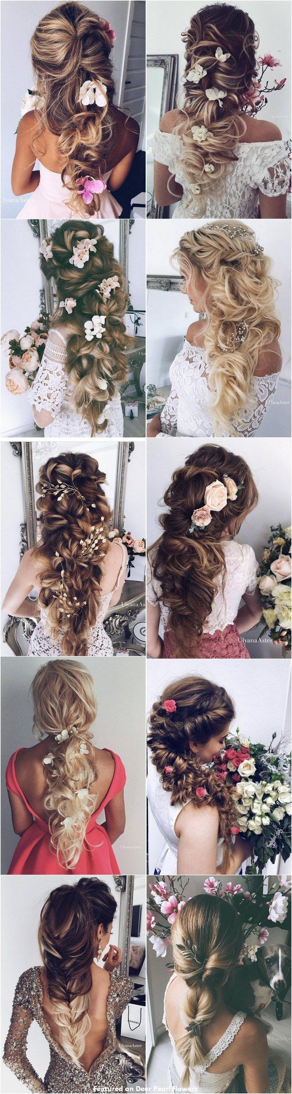 new romantic long bridal wedding hairstyles to try weddings