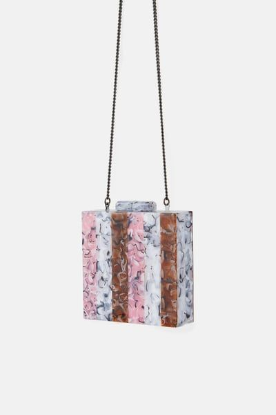 c5f4a814ff ZARA - Female - Tricolor box-shaped bag - Pink - M in 2019 ...