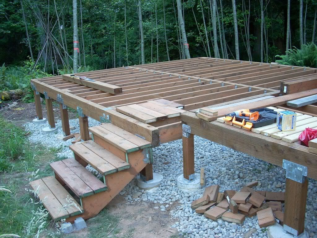 Image gallery deck foundation for How to build a pier foundation