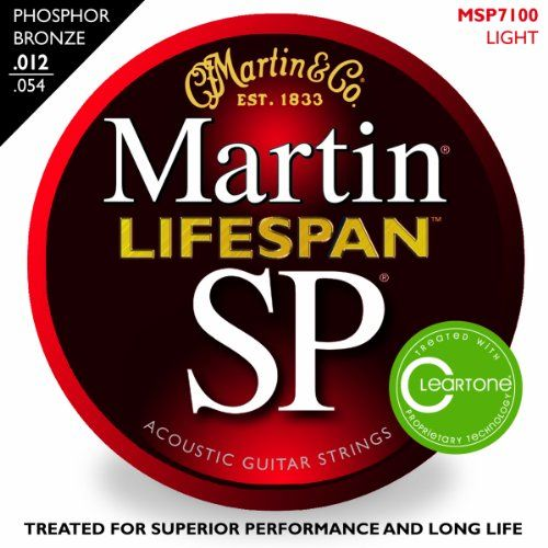 Martin SP 7100 Phosphor Bronze Lifespan Coated Acoustic Strings Light C.F. Martin & Co. http://www.amazon.com/dp/B0041T53KI/ref=cm_sw_r_pi_dp_HCmAub0GYSP92  I use one set of strings every 2 months.