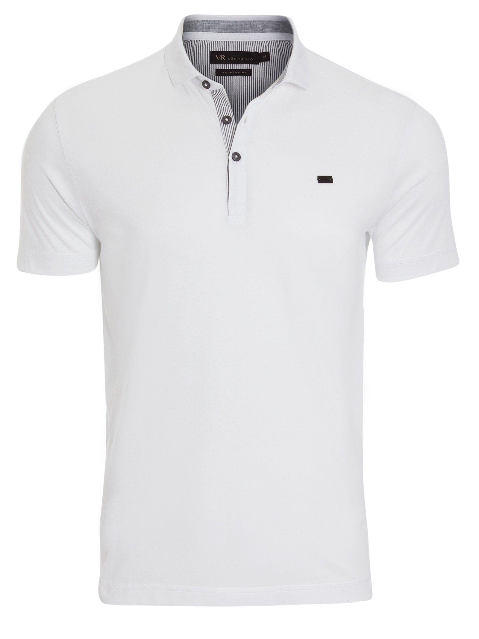 POLO MALHA - BRANCO Camisa Polo Branca Masculina e18ff0b35bd