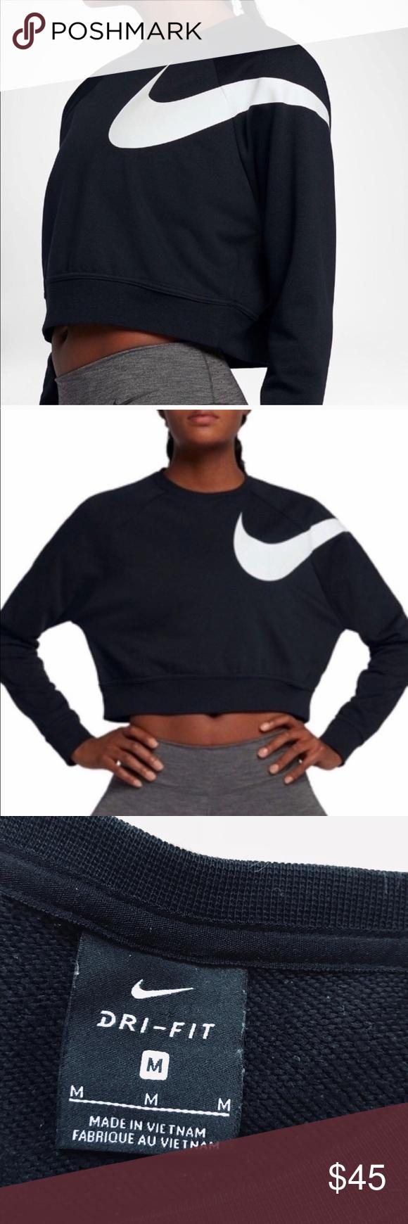 Nike Dri Fit Versa Cropped Graphic Sweatshirt Sweatshirts Graphic Sweatshirt Nike Dri Fit [ 1740 x 580 Pixel ]