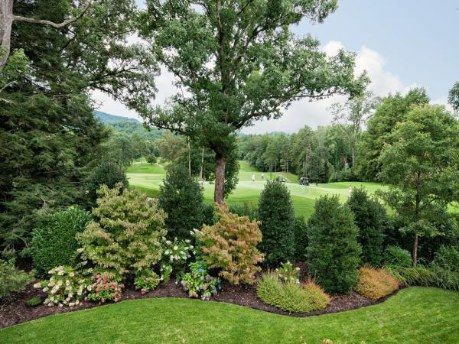 Evergreen enriched flowerbed Flower Beds Pinterest