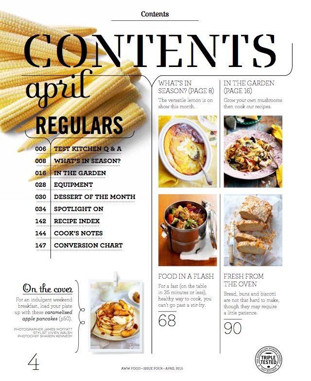 Indesign Magazine Layout Food: Food Magazine Issue 04 April 2015 On Behance