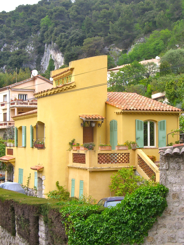 yellow house The Village of Eze Pinterest