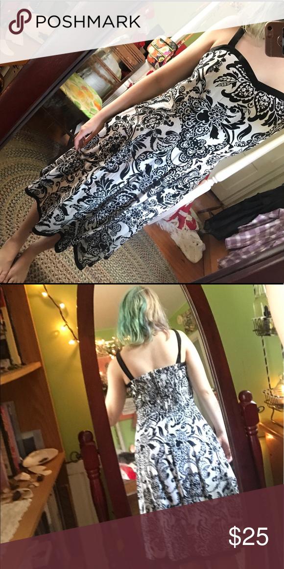 Selling this Black & White Long Dress on Poshmark! My username is: humanouijaboard. #shopmycloset #poshmark #fashion #shopping #style #forsale #Dresses & Skirts