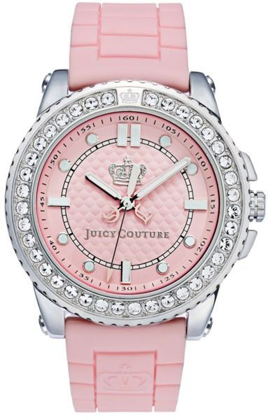 9f254564162 Juicy Couture Womens Pedigree Pink Jelly Strap in Pink
