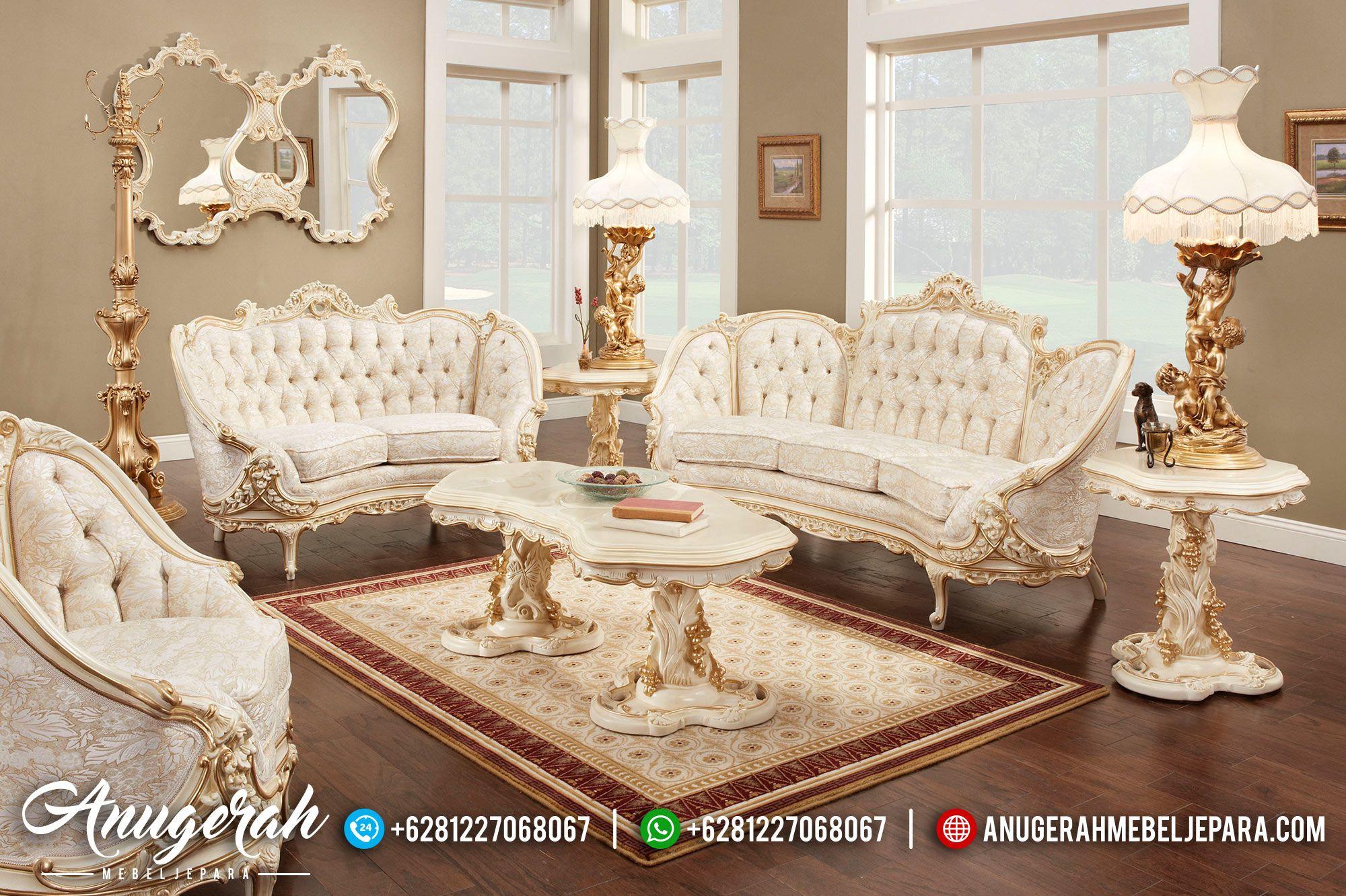 Set Sofa Ruang Tamu Mewah Victorian