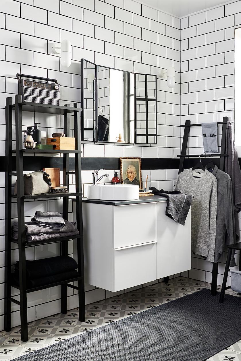 Vilto Regal Schwarz Ikea Deutschland In 2020 Regale Furs Badezimmer Badezimmer Aufbewahrung Offenes Regal