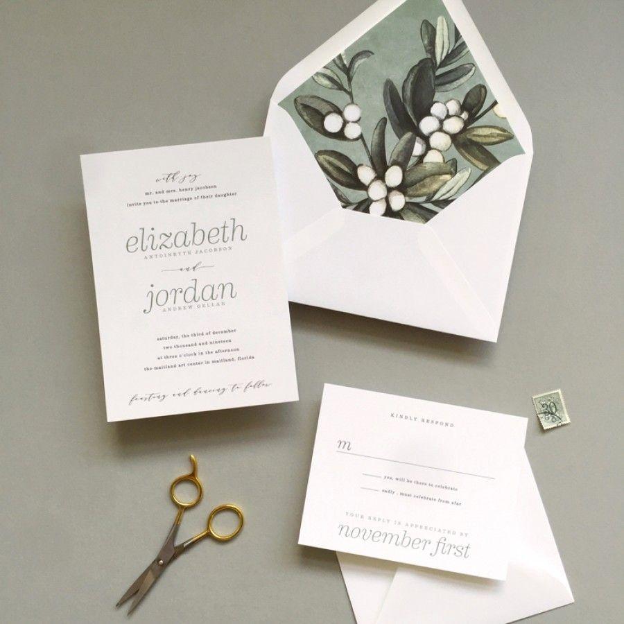 Simple Salt Wedding Invitations - Wedding Invitations | The Wedding ...
