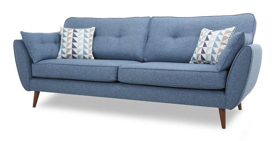 Best Blue 4 Seater Fabric Sofa Set 2 Seater Sofa Sofa Dfs 400 x 300