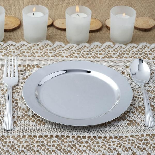 Buy Premium Quality Plastic Dinnerware and Dishware from efavormart for Weddings Receptions and Holiday & 12 Pack 7.5\