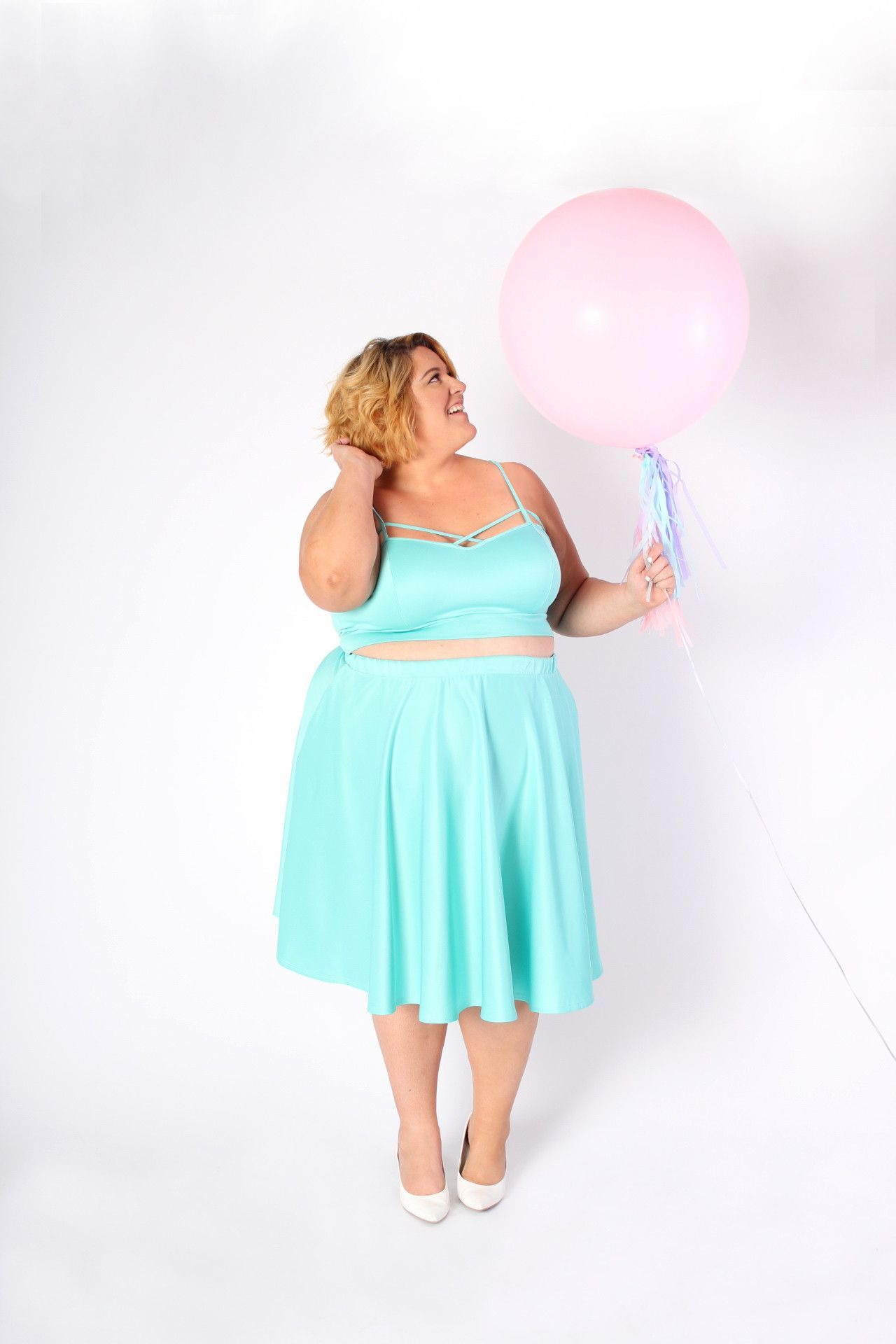 Plus Size Clothing for Women - Jessica Kane Mint Fresh Crop Top ...