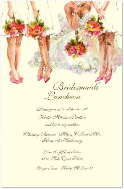 all the ladies bridesmaid luncheon invitations bridal luncheon