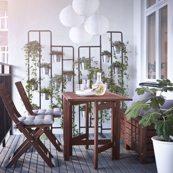 Bring out your botanical side. These space saving plant stands from IKEA can help create a garden even in the smallest outdoor spaces.