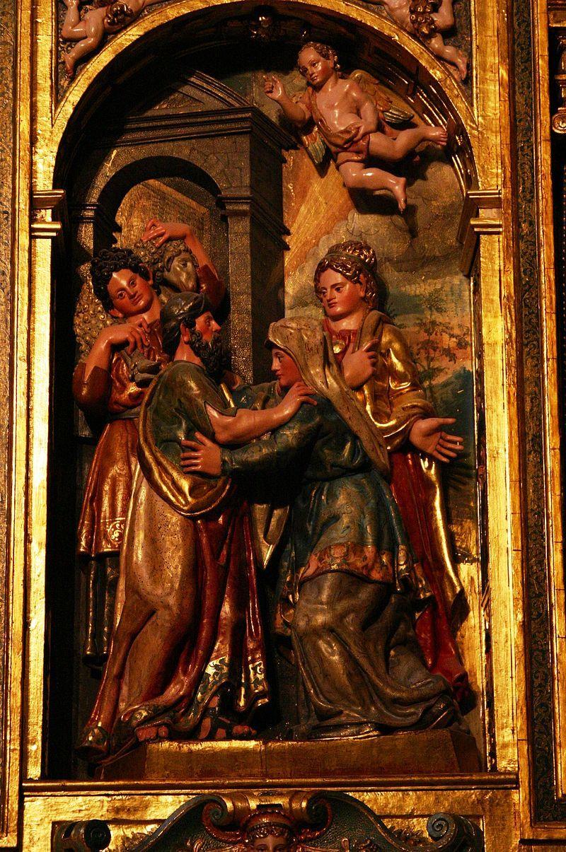 Detalle del retablo mayor de la Catedral de Burgos, de Rodrigo de la Haya y Martín de la Haya, 1562-1580 (la policromía se realizó en 1593).