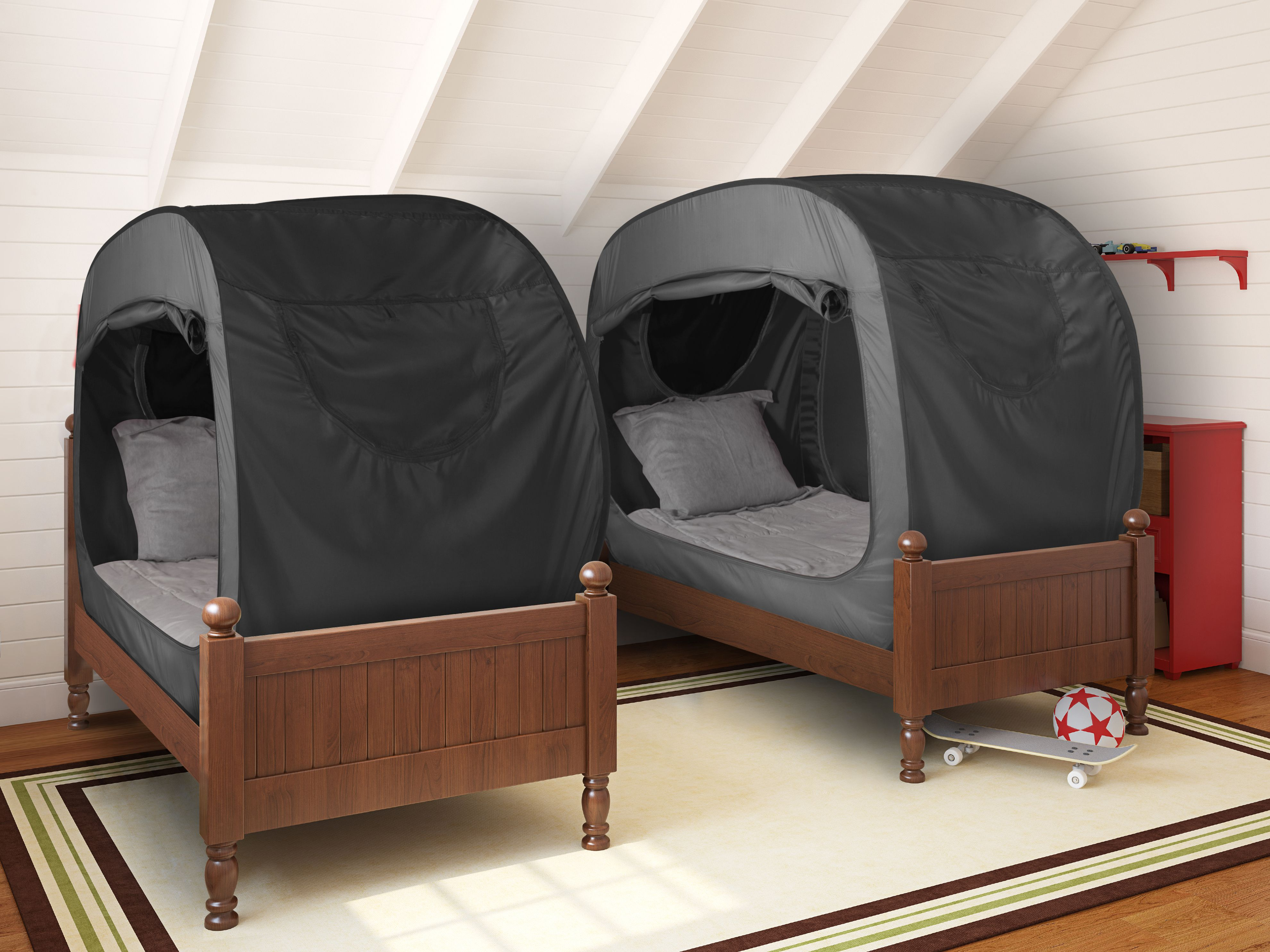 Our Twin Bunk Pop is prefect for smaller spaces! & The Bed Tent | Small spaces Twins and Spaces