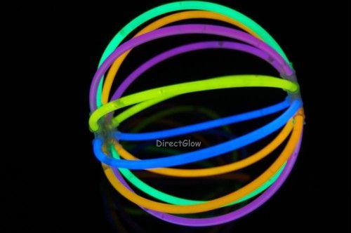 Set of 5 Assorted Glow Stick Ball 60 Sticks 10 Connectors | eBay