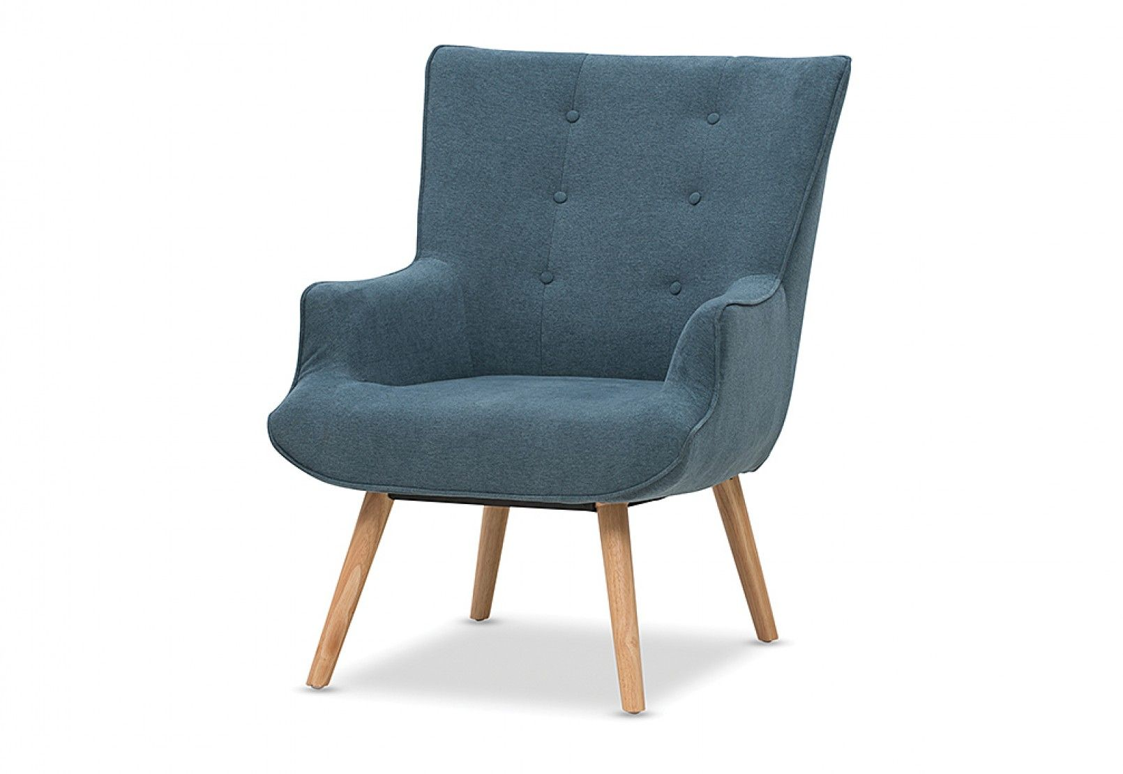 Traby Fabric Accent Chair with Foot Stool Super AMart
