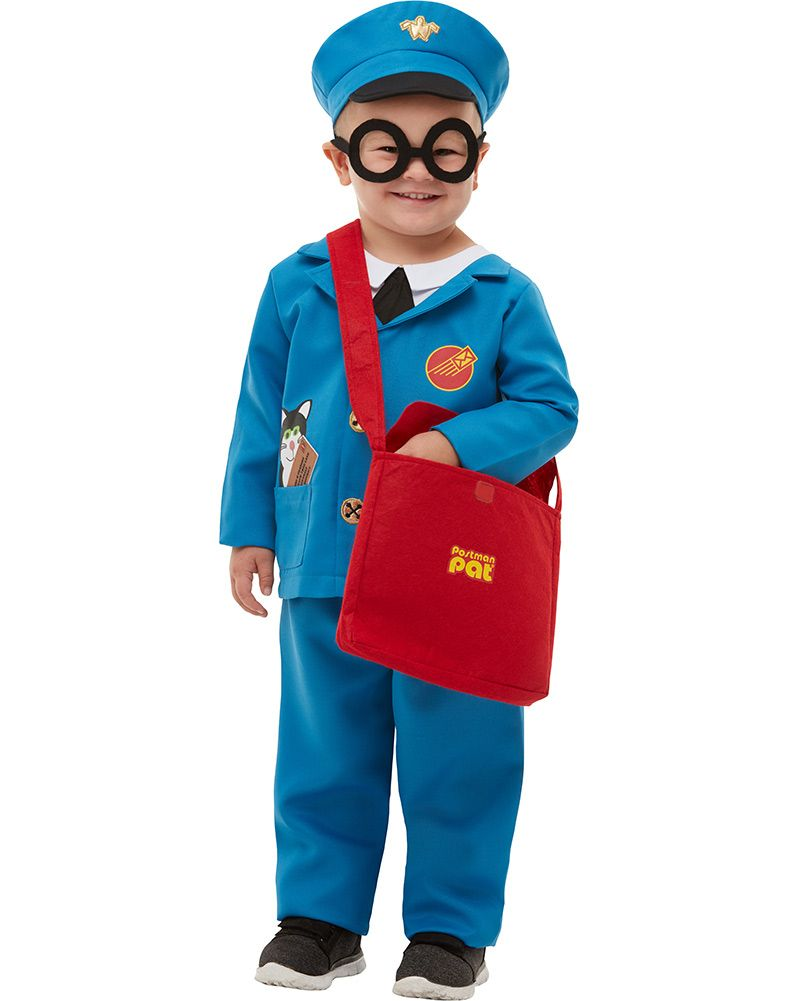 Kids Postman Pat Costume Book Week Day Boys Girls Fancy Dress Childs Outfit