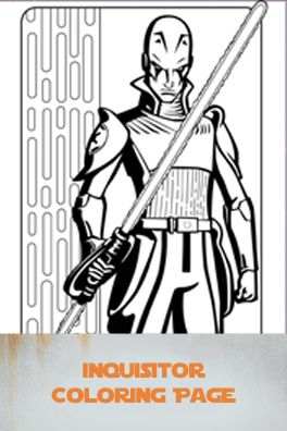 Inquisitor coloring page Free Disney Star Wars Rebels Printables