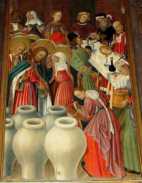 Las Bodas de Caná (retablo transfiguración) - BERNARDO MARTORELL