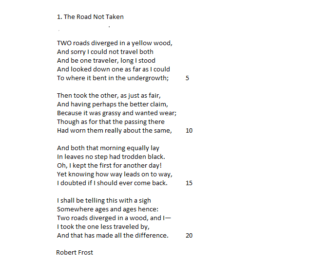 15 line poems by robert frost