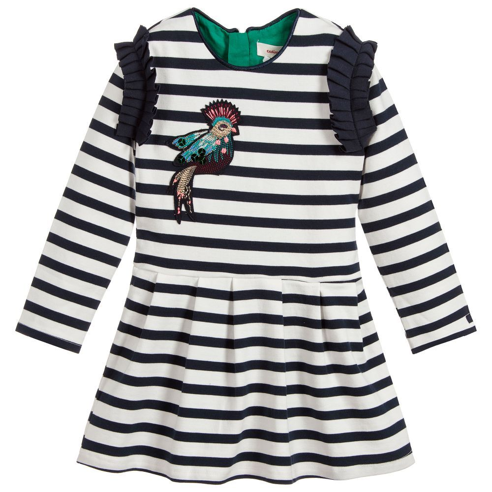 3416d704d9c6 Navy Blue Milano Jersey Dress for Girl by Catimini. Discover more ...