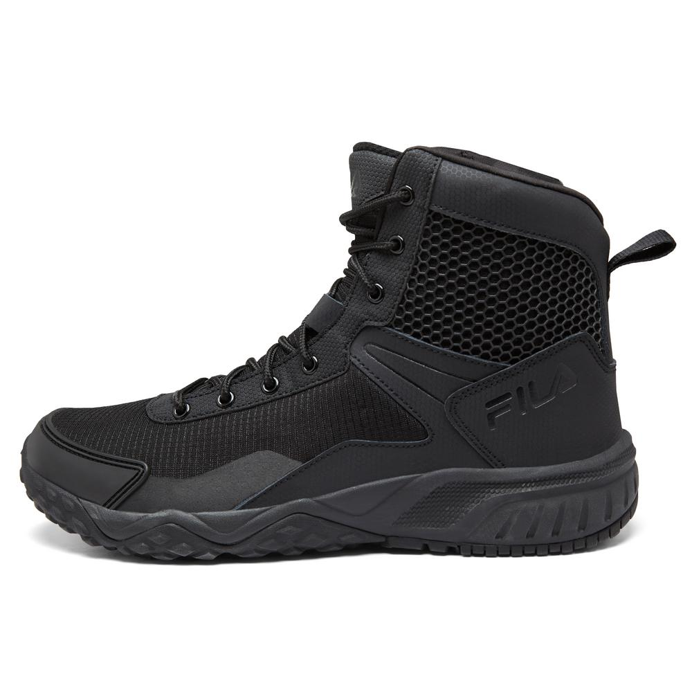 ooit populair uitstekende kwaliteit info voor Fila Chastizer Men Size 10.5 Black Leather/Synthetic Soft ...
