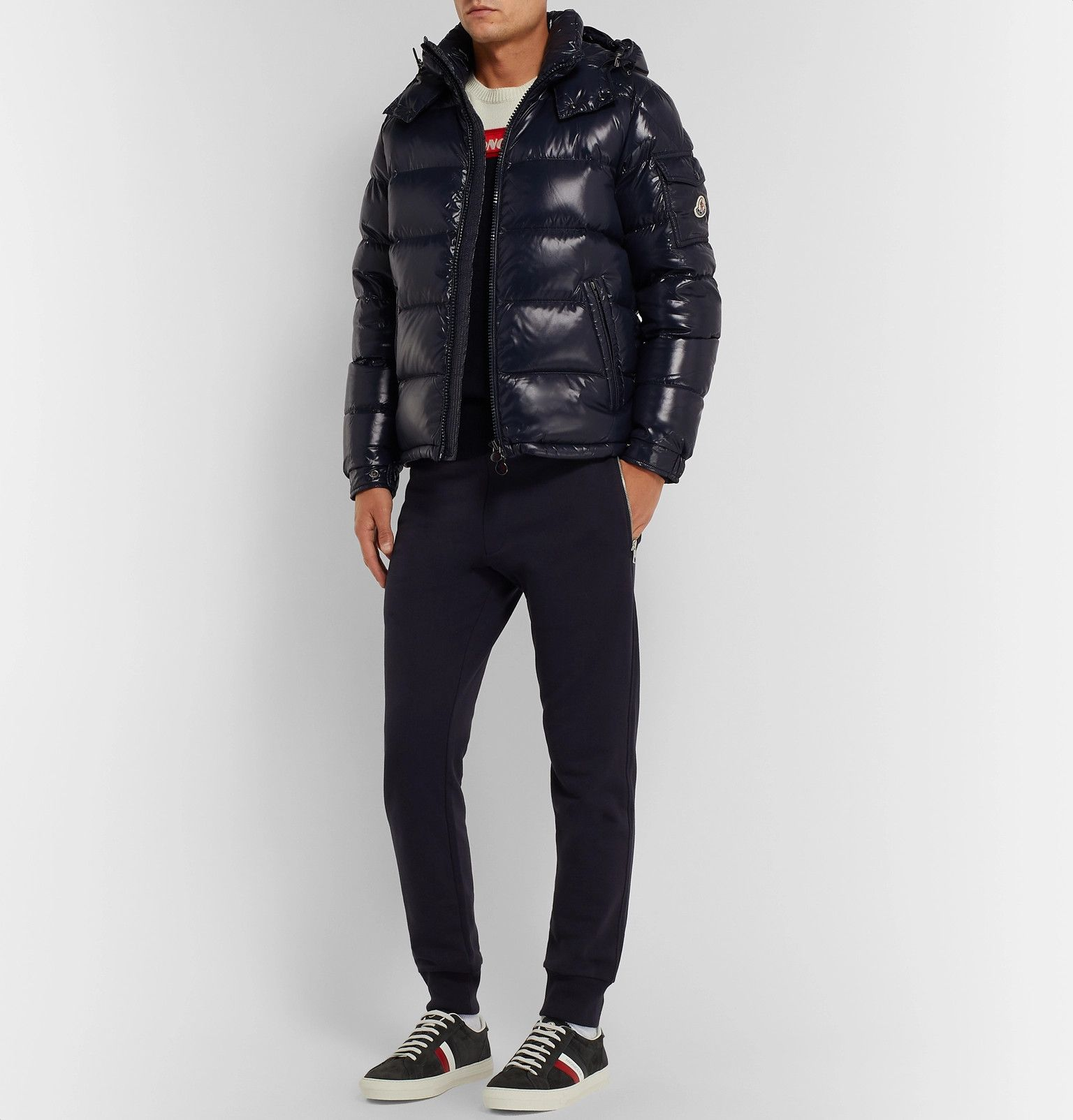 MAYA QUILTED GLOSSED in 2020 Moncler sweater, Down