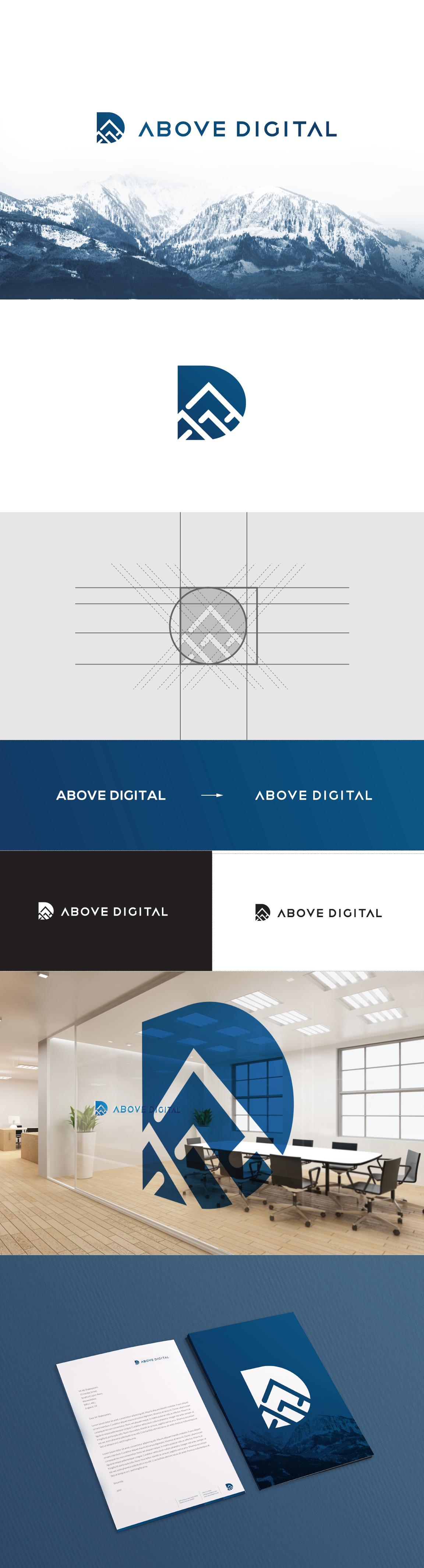 Above Digital Logo Design Branding Png By Tie A Tie Branding Design Logo Graphic Design Logo Logo Design