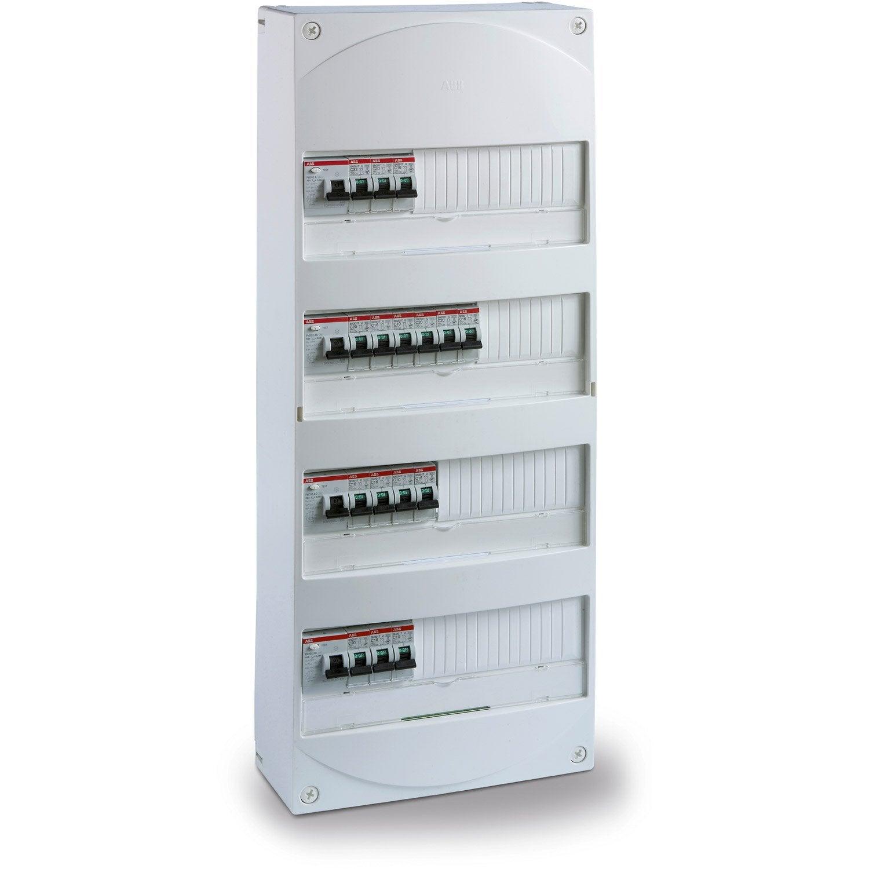 Tableau Electrique Equipe Et Precable Abb 4 Rangees 52 Modules Tableau Electrique Tableau Module