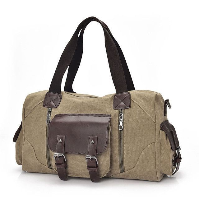 d796f41e30b6 Famous Brand Men Vintage Canvas Men Travel Bags Women Weekend Carry On  Luggage   Bags Leisure
