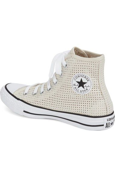 Perforated Canvas High Top Sneaker