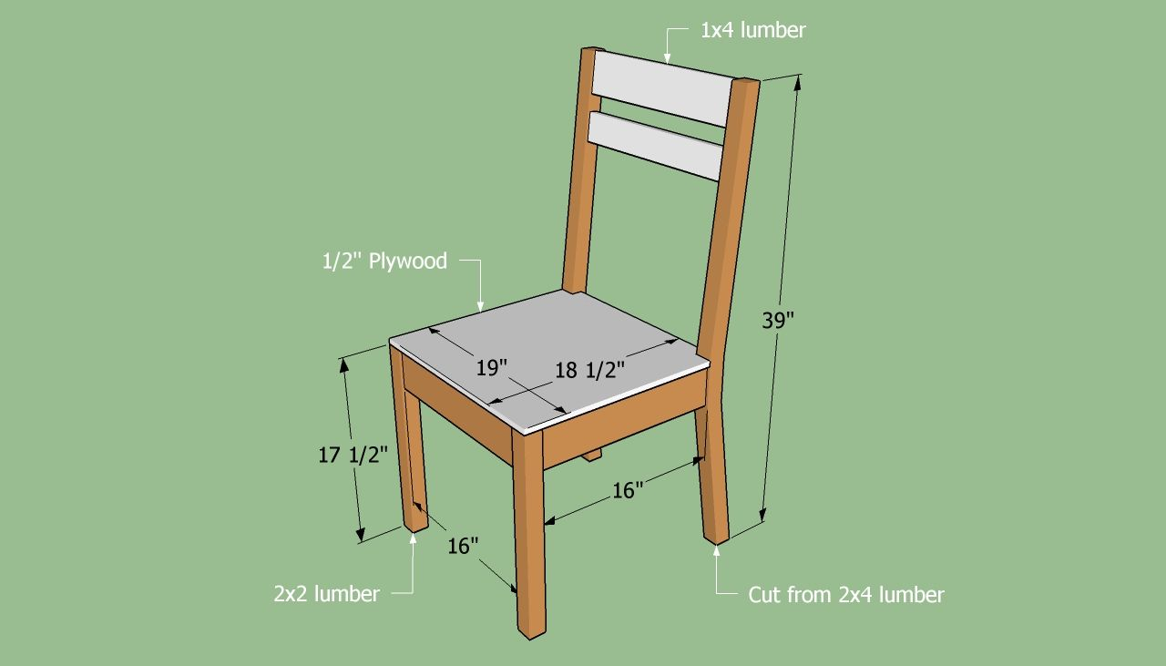 How To Build A Simple Chair Diy Wooden Chair Plans
