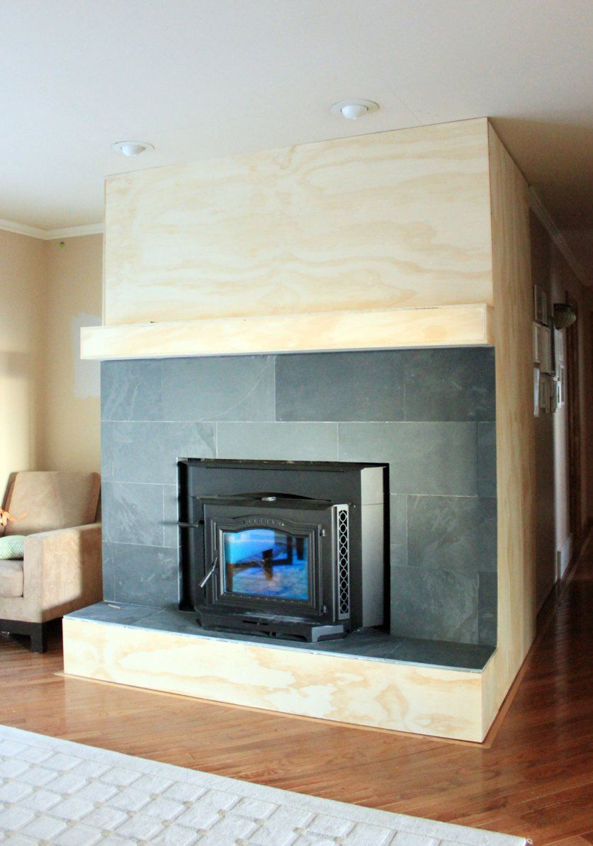 Fireplace cover up with slate to hall