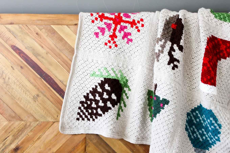 Modern C2C Crochet Christmas Afghan - Free Pattern!   Crochet ...