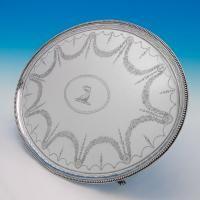 B5662: Antique Sterling Silver Salver - Thomas Wallis I Hallmarked In 1784 London - Georgian - Image 1