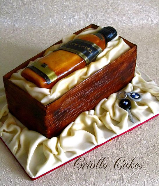 Whiskey Bottle Cake Themed Sweets By Category Pinterest Cake