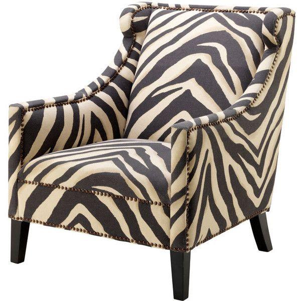 Eichholtz Jenner Zebra Chair 1 170 Liked On Polyvore