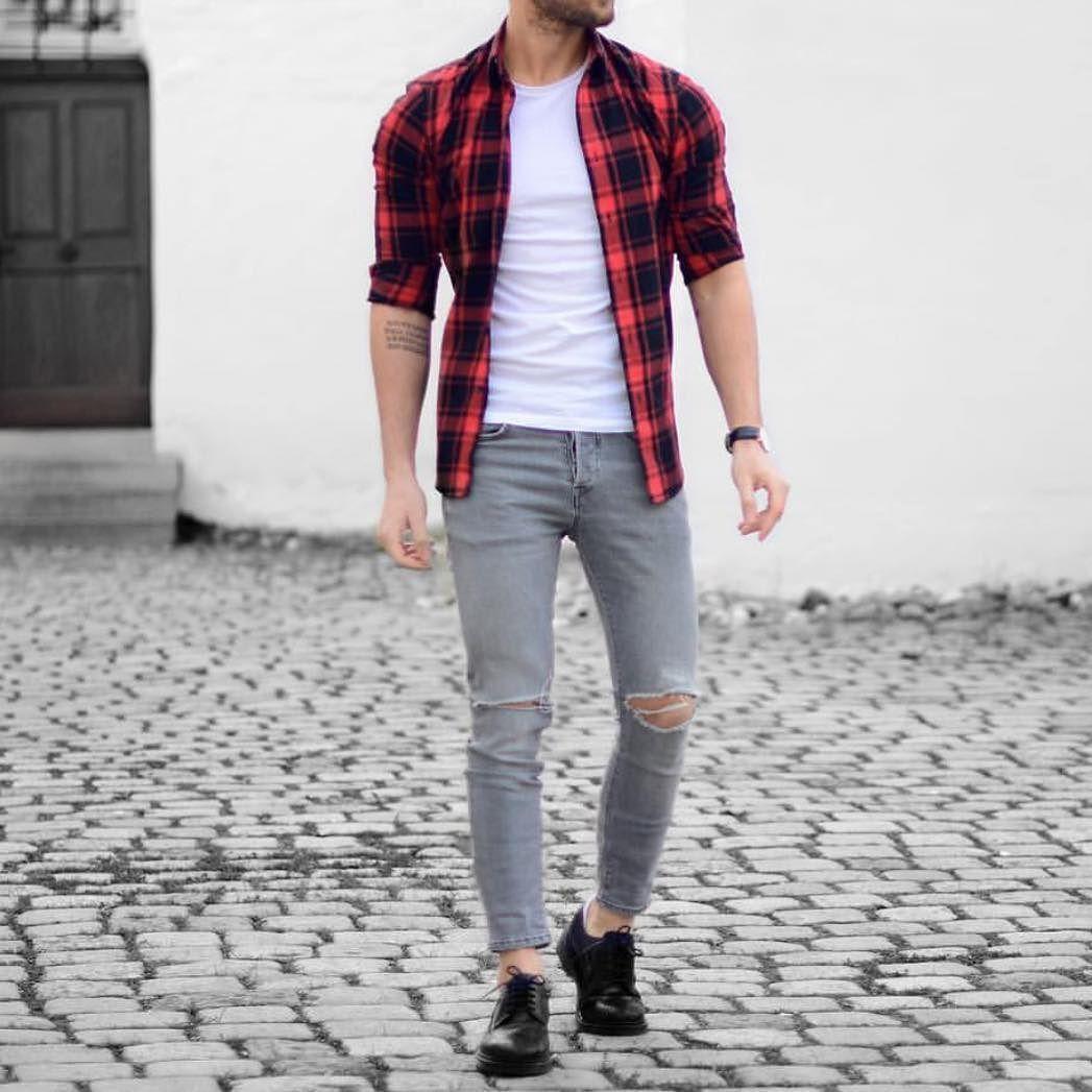 Plaid Shirt Outfits Ideas For Guys