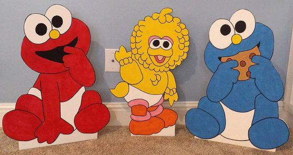 1 UNO 2ft Baby Sesame Street recorte/pie/prop. por supercutecutouts