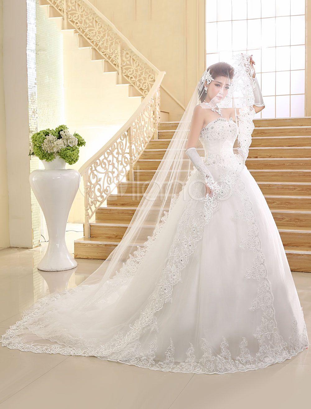 Princess Wedding Dresses Strapless Ball Gown Bridal Dress