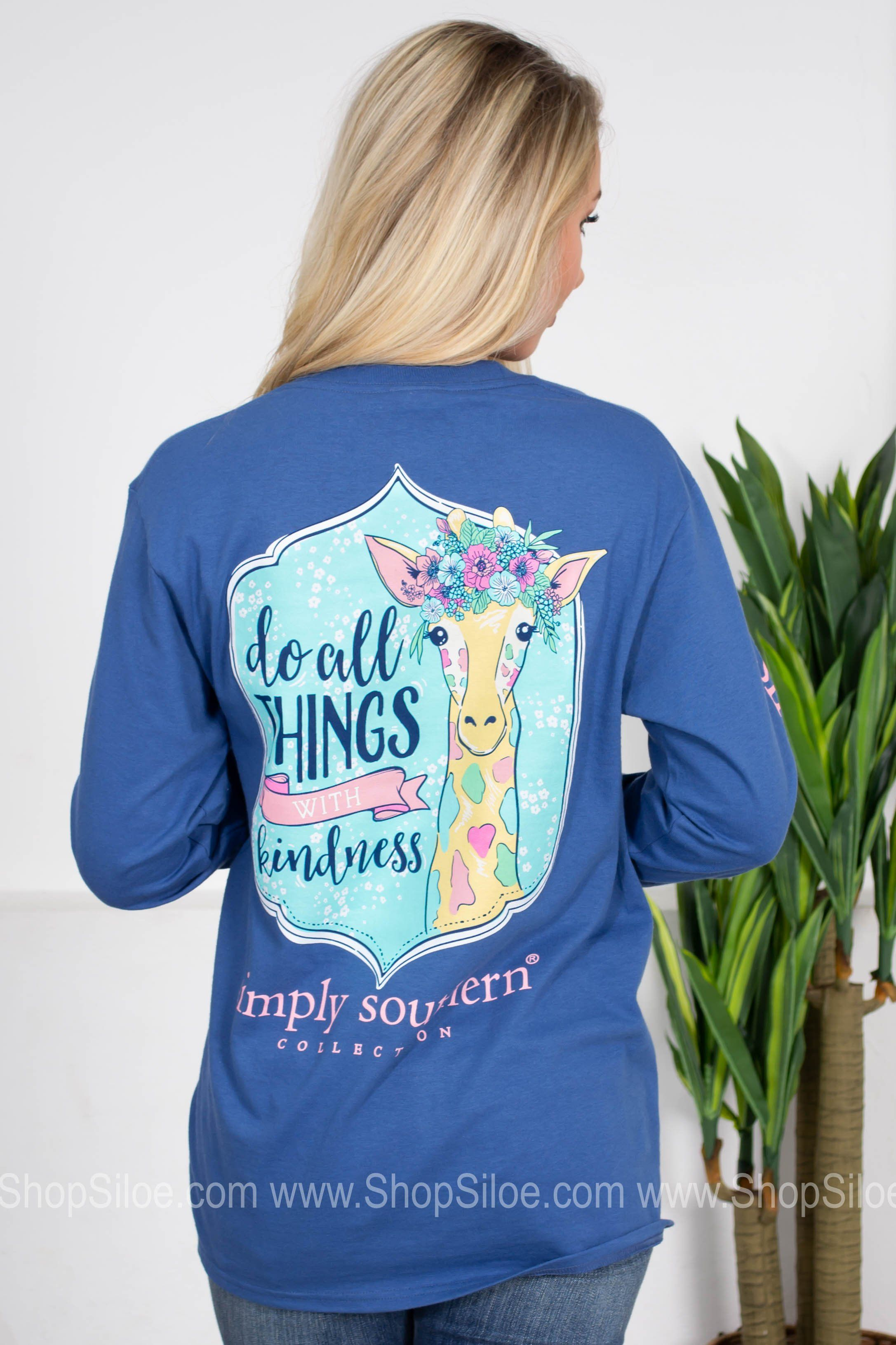 985200987 Do All Things With Kindness | Blue | Simply Southern | Products ...