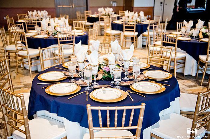 Melissa Scott Gold Wedding Decorations Blue Gold Wedding