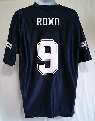 4ba3c29f9 NFL Dallas Cowboys Tony Romo Jersey Size Large New Old Stock ...