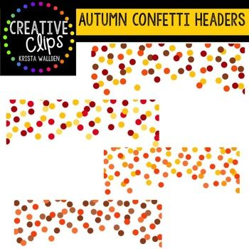 autumn confetti headers creative
