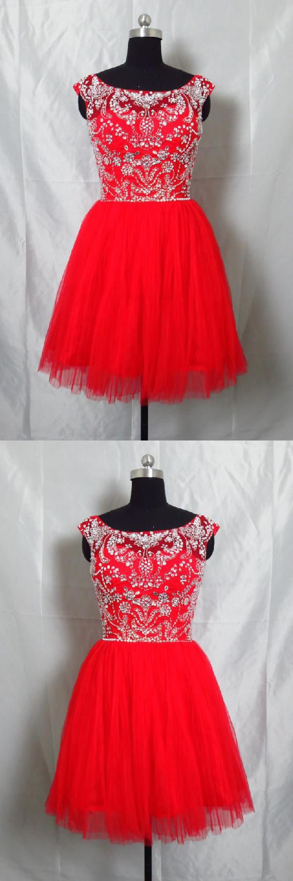 High neck short red ball gown okdr short homecoming
